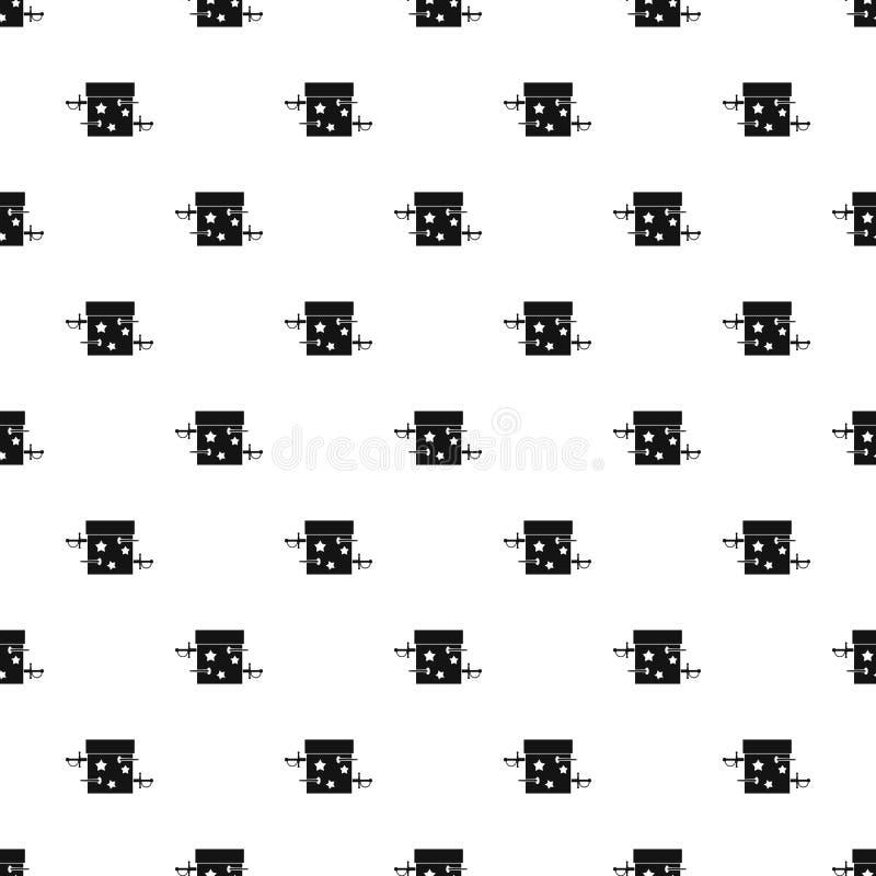 Kordzika złudzenia pudełkowaty wzór, prosty styl royalty ilustracja