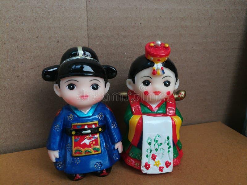 Koreańczyk zabawki para zdjęcie royalty free