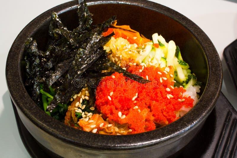 Koreańscy ryż z warzywem obraz stock