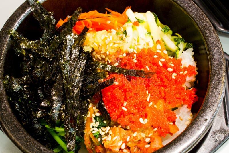 Koreańscy ryż z warzywem zdjęcia royalty free