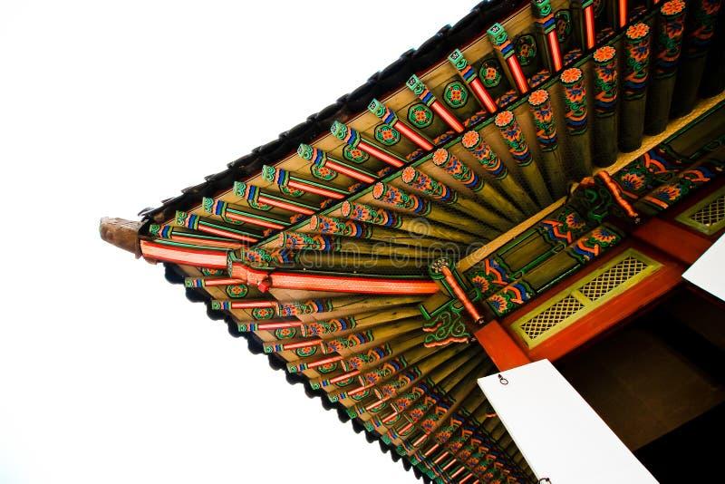 Koreańska świątynna architektura w colour zdjęcia royalty free