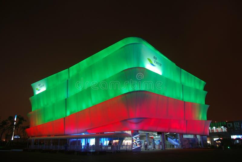Koreańska korporacyjna pawilon noc obrazy stock