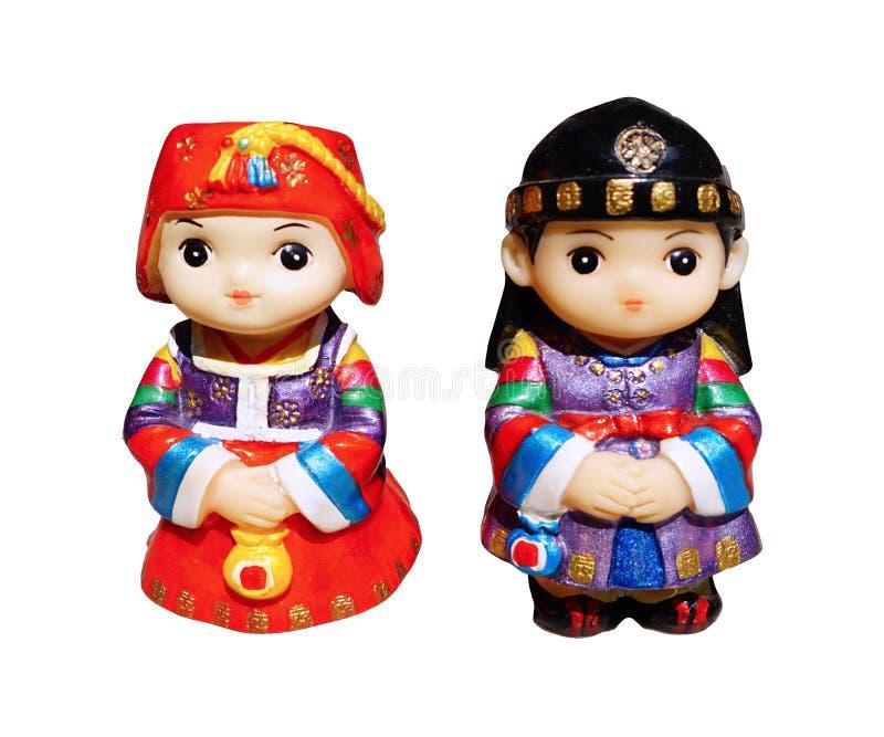 Koreańska lali chłopiec, dziewczyna i zdjęcie stock