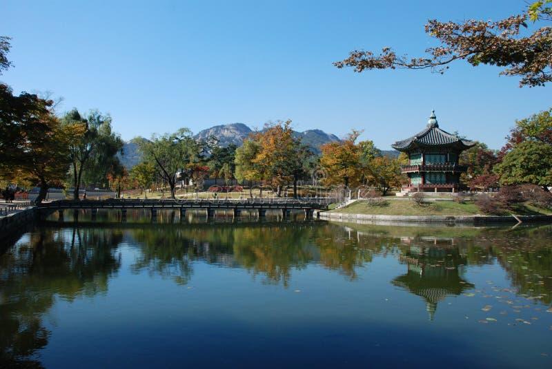 koreańska pałac pawilonu sceneria zdjęcie royalty free