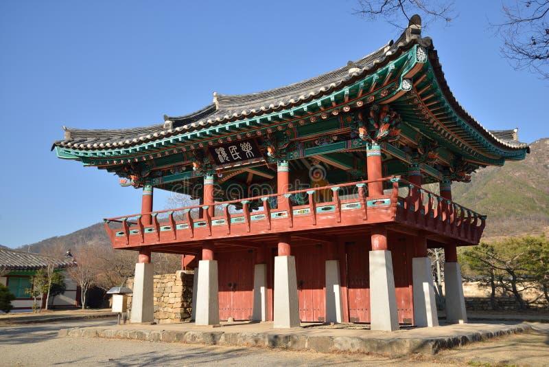 Koreańska Tradycyjna architektura nazwany NakAnRu fotografia stock