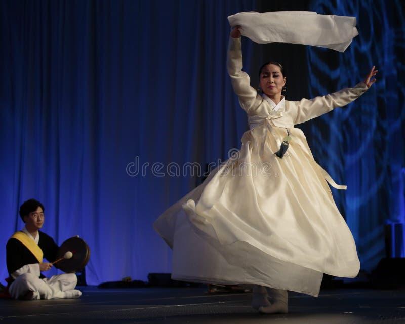 Koreański Danseuse obrazy stock