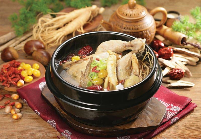 Koreański kurczak polewki tradycyjny jedzenie obrazy royalty free
