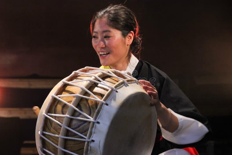 Koreański muzyk buku gracz zdjęcie stock