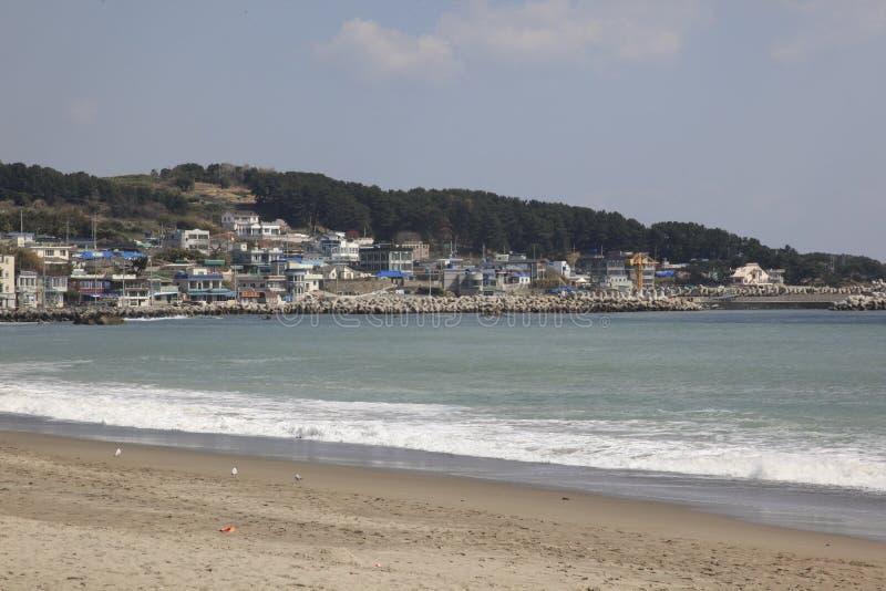 Koreański Seashore miasteczko fotografia royalty free