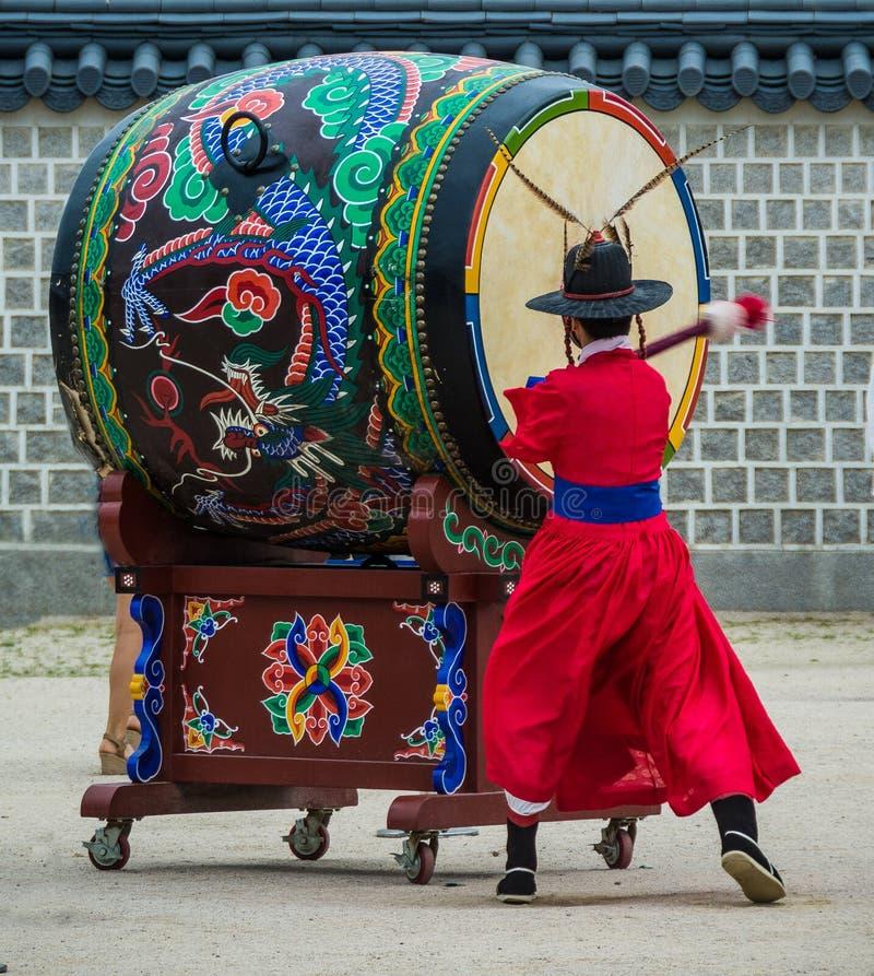 Koreański tradional bęben zdjęcia royalty free