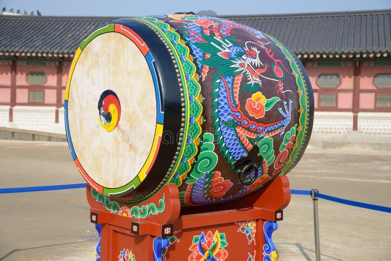 Koreański tradional bęben fotografia royalty free
