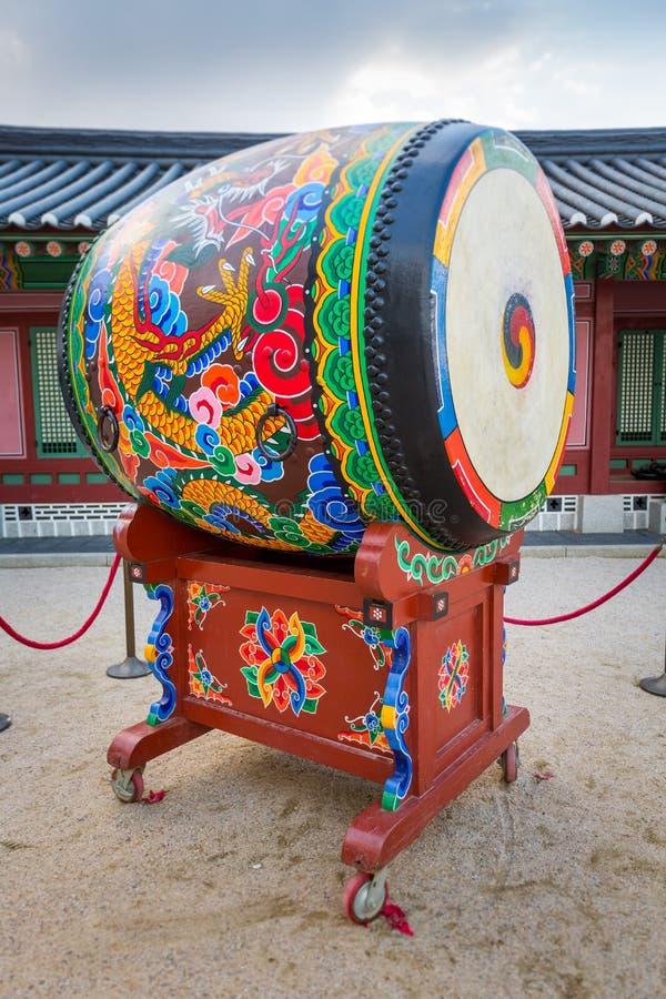 Koreański tradional bęben obrazy royalty free