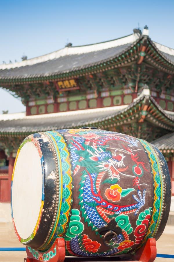 Koreański tradional bęben zdjęcie stock