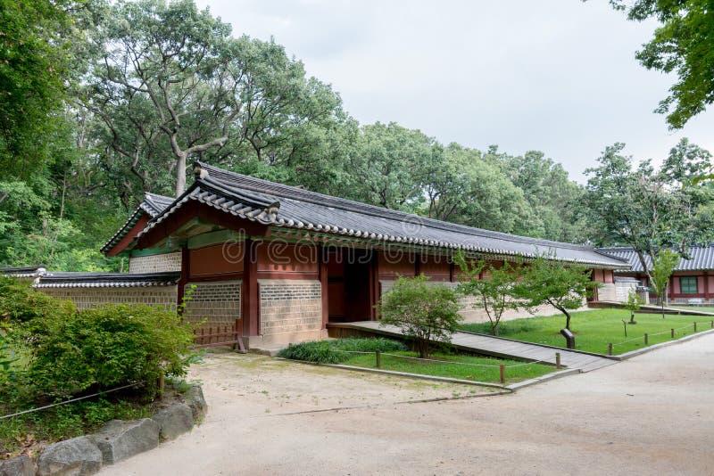 Koreański Tradycyjny dom - Cesarski shrine& x28; Jongmyo& x29; chosun dynastia Korea fotografia stock