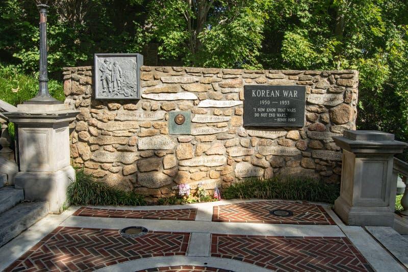 Koreańskiego konfliktu Pomnikowy †'Lynchburg, Virginia, usa obrazy stock