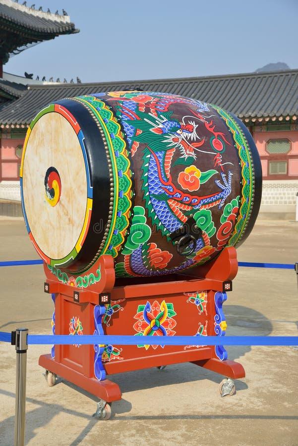 Koreańskiego tradycyjnego bębenu nazwany buk obraz royalty free