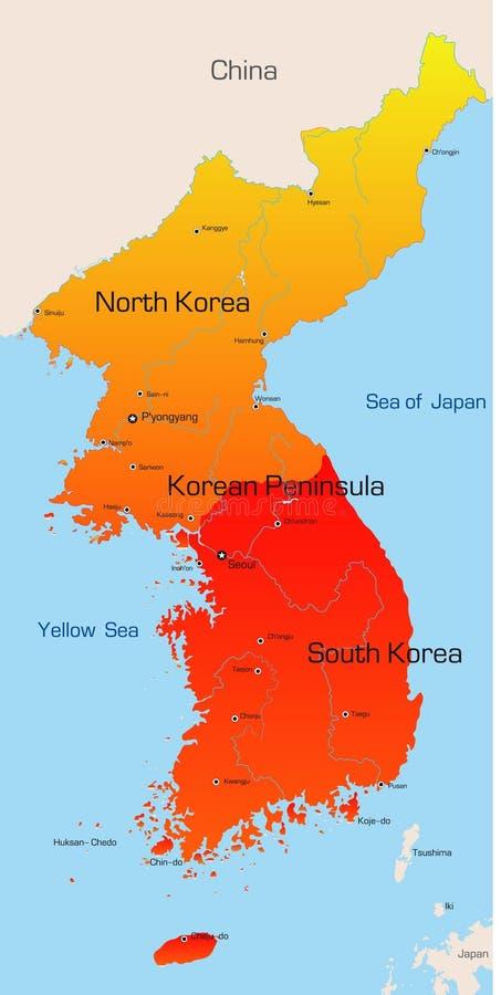 Korea royalty-vrije illustratie