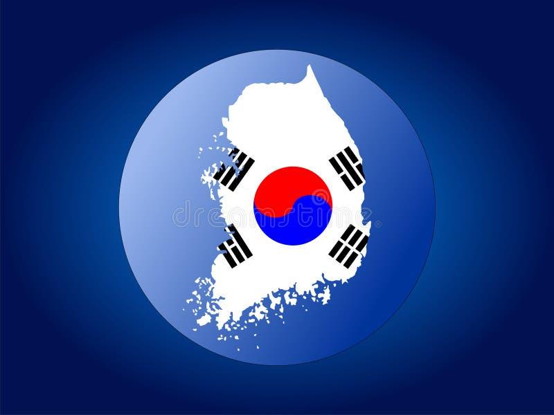 Korea bandery mapy kuli royalty ilustracja
