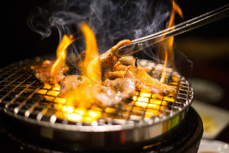 Korea bbq meat royalty free stock images