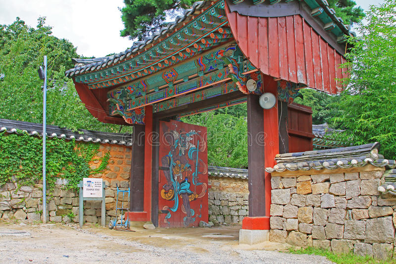 Korea Busan Beomeosa Temple. Beomeosa Temple is located at the edge of Mt. Geumjeongsan, a famous mountain in Busan. About 1,300 years ago it was constructed by stock images