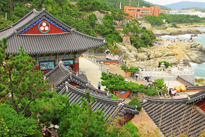 Korea Busan Haedong Yonggungsa Temple. Haedong Yonggungsa Temple is situated on the coast of the north-eastern portion of Busan. Haedong Yonggungsa Temple was stock photo