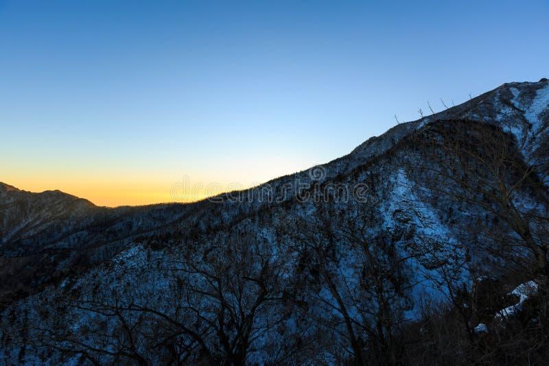 Korea góry krajobrazu sceniczny strzał przy góry Seoraksan parkiem narodowym obraz stock