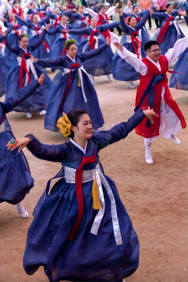 Korea ludowy taniec fotografia royalty free