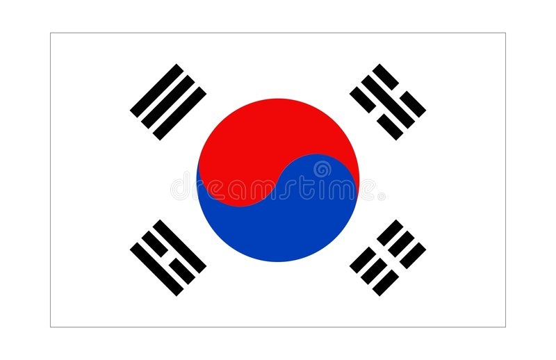 Korea-Markierungsfahne