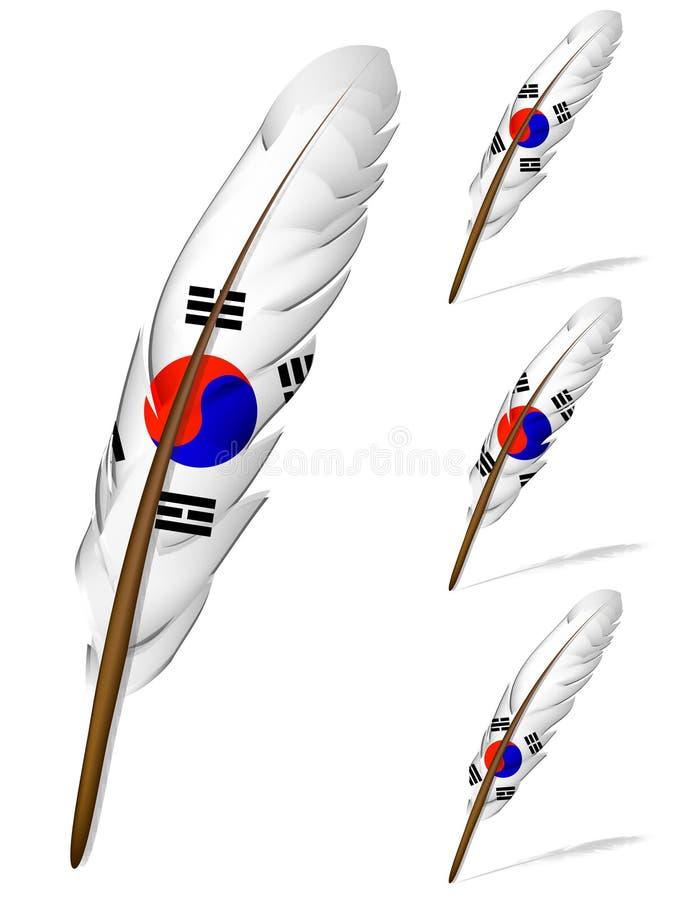Korea-Markierungsfahnenfeder vektor abbildung