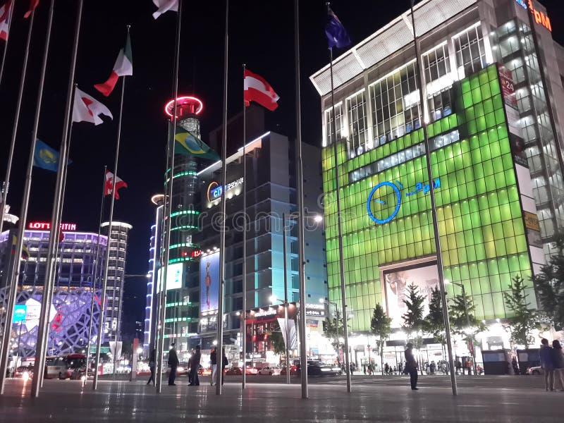 Korea-Nacht lizenzfreies stockfoto