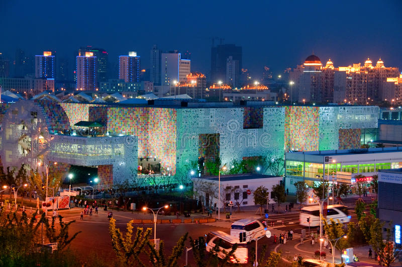 Korea Pavilion at night stock photo