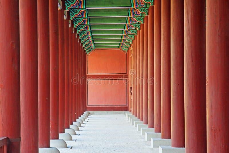 Korea Seoul Gyeongbokgung slott arkivfoton