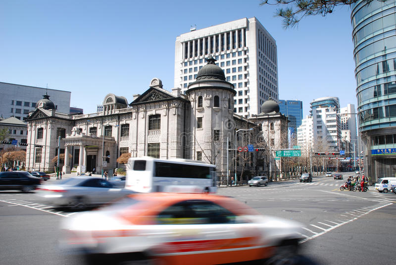 korea seoul södra gata arkivbilder