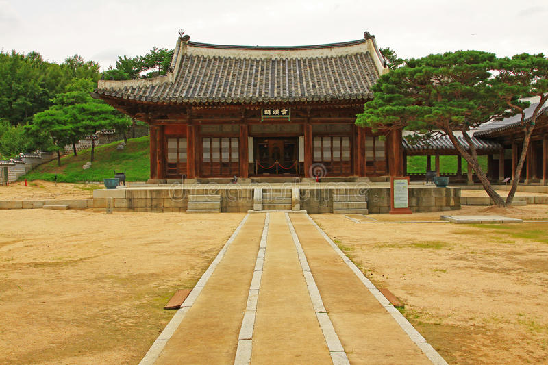 Korea Suwon Hwaryeongjeon. Hwaryeongjeon in the Suwon City. It was built in 1801 on the orders of King Jeongjo royalty free stock photography