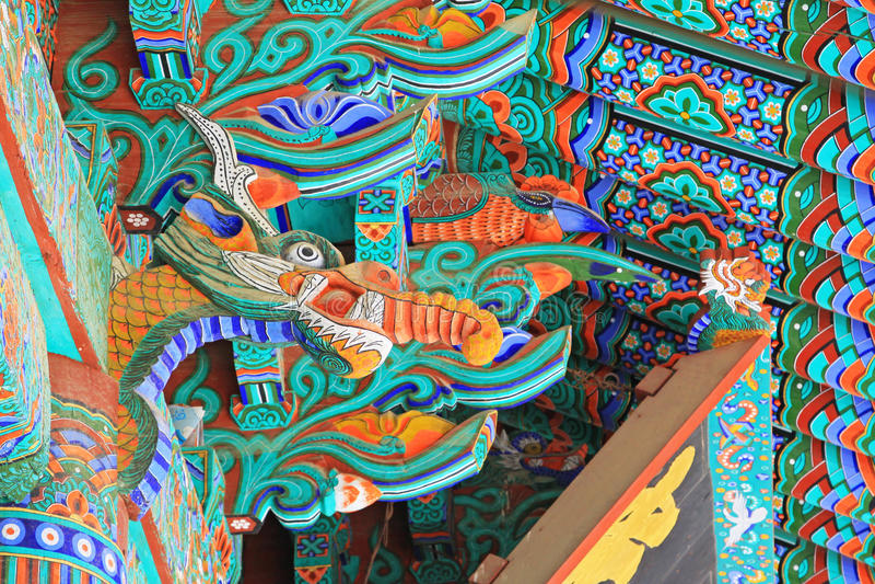 Korea UNESCO-Welterbe - Haeinsa-Tempel lizenzfreies stockfoto