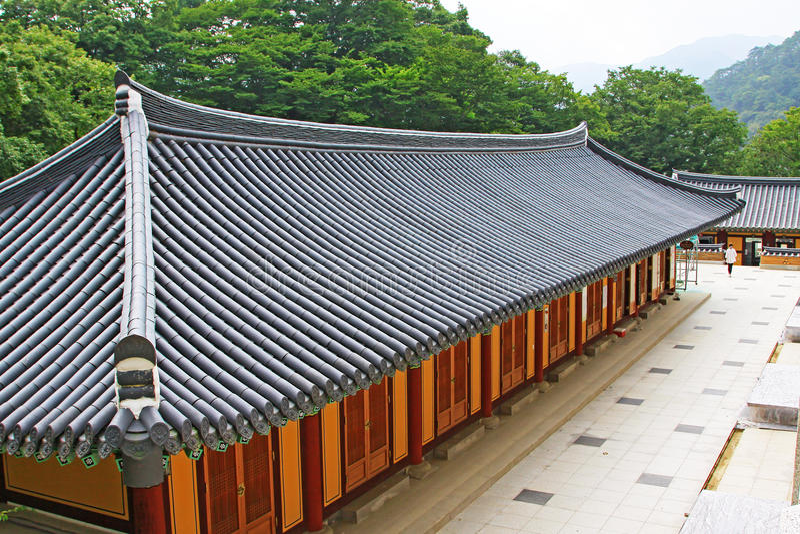 Korea UNESCO-Welterbe - Jongmyo-Schrein stockfotografie