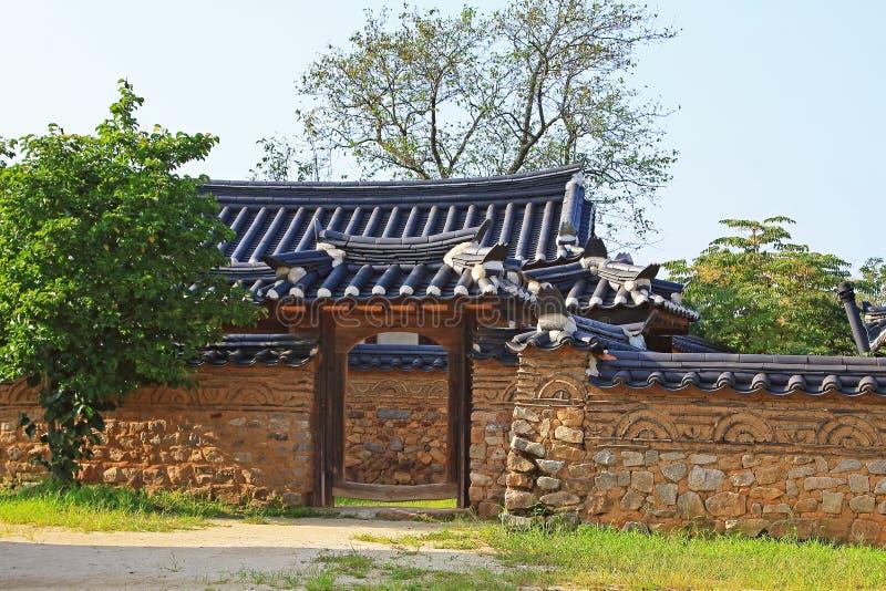 Korea UNESCO-Welterbestätten - Hahoe-Volk-Dorf stockfoto