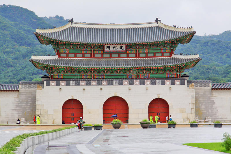Korea UNESCO World Heritage Sites – Gyeongbokgung. Gwanghwamun Gate Of the Korea UNESCO World Heritage Sites Gyeongbokgung royalty free stock photo