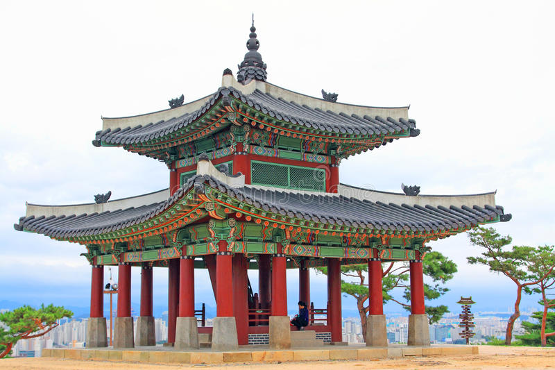 Korea UNESCO World Heritage Sites – Hwaseong Fortress Pavilion. Suwon is a Korea History City, Hwaseong Fortress UNESCO World Heritage Sites is located in royalty free stock images