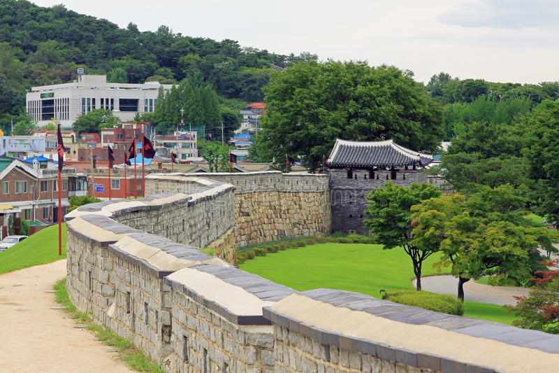 Korea UNESCO World Heritage Sites – Hwaseong Fortress and Suwon City. Suwon is a Korea History City, Hwaseong Fortress UNESCO World Heritage Sites is royalty free stock photography