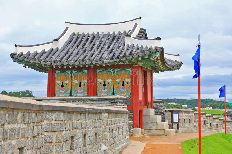 Korea UNESCO World Heritage Sites – Hwaseong Fortress. Suwon is a Korea History City, Hwaseong Fortress UNESCO World Heritage Sites is located in the city royalty free stock photos