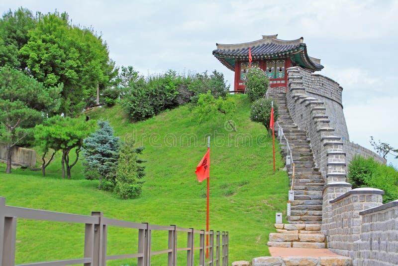 Korea UNESCO World Heritage Sites – Hwaseong Fortress. Suwon is a Korea History City, Hwaseong Fortress UNESCO World Heritage Sites is located in the city stock photos