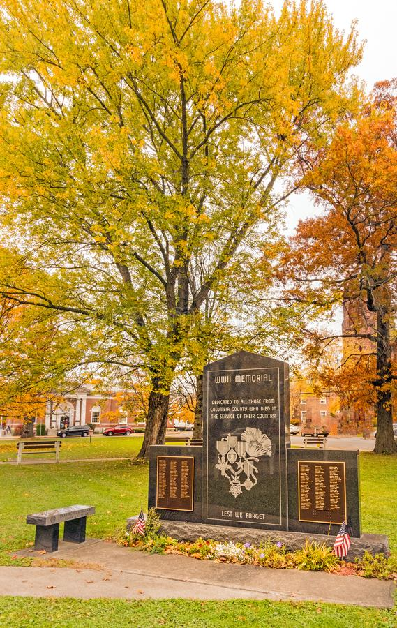 World War two Memorial stone in Columbia County royalty free stock images
