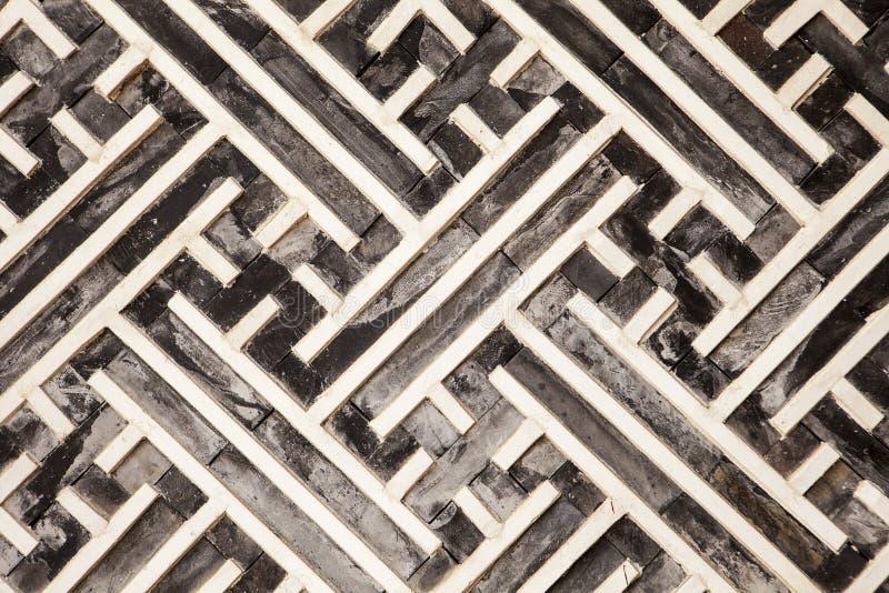 Koreaans Geometrisch Patroon in Hout royalty-vrije stock afbeeldingen