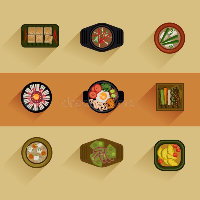 Koreaans het voedsel Vectorpictogram van de voedselillustratie vector illustratie