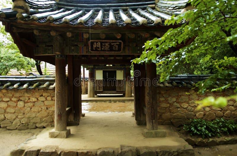 Koreaans huis royalty-vrije stock afbeeldingen