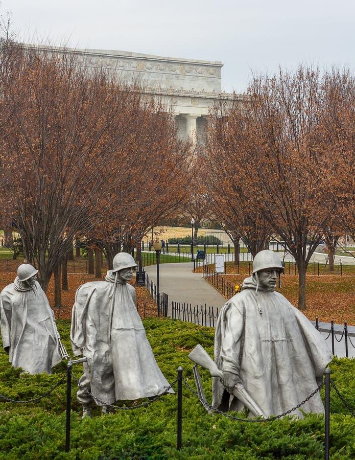 Koreaans oorlogsgedenkteken stock fotografie