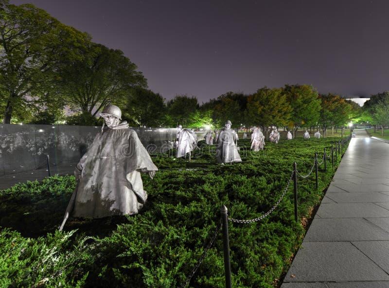 Koreaans Oorlogsgedenkteken, Washington, gelijkstroom stock foto
