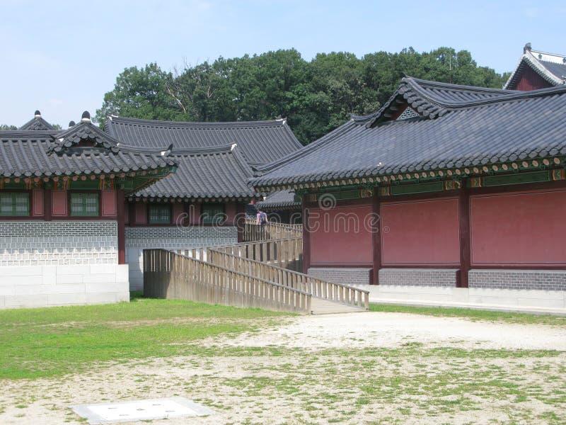 Koreaans paleis in Seoel royalty-vrije stock foto