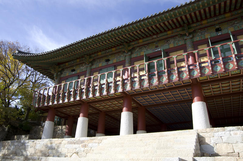 Koreaanse Boeddhismetempel royalty-vrije stock foto's